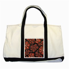 Modern Floral Decorative Pattern Print Two Toned Tote Bag by dflcprints