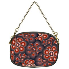 Modern Floral Decorative Pattern Print Chain Purse (one Side) by dflcprints