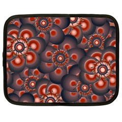 Modern Floral Decorative Pattern Print Netbook Sleeve (xl) by dflcprints