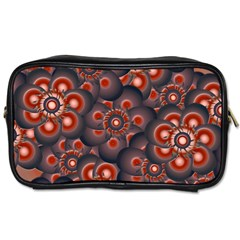 Modern Floral Decorative Pattern Print Travel Toiletry Bag (two Sides) by dflcprints