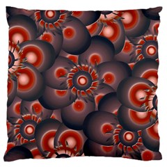 Modern Floral Decorative Pattern Print Large Cushion Case (single Sided)  by dflcprints