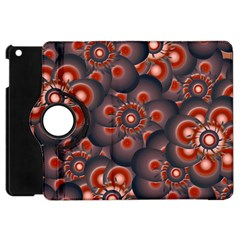 Modern Floral Decorative Pattern Print Apple Ipad Mini Flip 360 Case by dflcprints