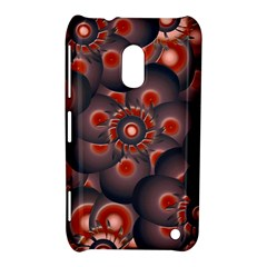 Modern Floral Decorative Pattern Print Nokia Lumia 620 Hardshell Case by dflcprints