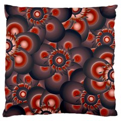 Modern Floral Decorative Pattern Print Standard Flano Cushion Case (two Sides) by dflcprints