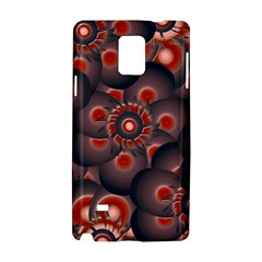 Modern Floral Decorative Pattern Print Samsung Galaxy Note 4 Hardshell Case by dflcprints