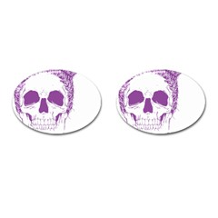 Purple Skull Bun Up Cufflinks (oval) by vividaudacity