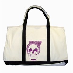Purple Skull Bun Up Two Toned Tote Bag by vividaudacity