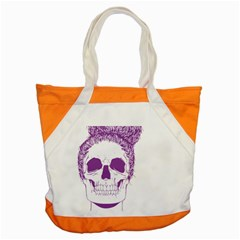 Purple Skull Bun Up Accent Tote Bag by vividaudacity