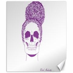 Purple Skull Bun Up Canvas 20  X 24  (unframed) by vividaudacity
