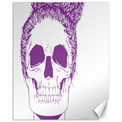 Purple Skull Bun Up Canvas 11  X 14  (unframed) by vividaudacity