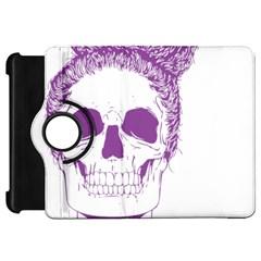 Purple Skull Bun Up Kindle Fire Hd Flip 360 Case by vividaudacity