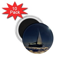 Navigating Trough Clouds Dreamy Collage Photography 1 75  Button Magnet (10 Pack) by dflcprints