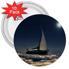 Navigating Trough Clouds Dreamy Collage Photography 3  Button (10 Pack) by dflcprints