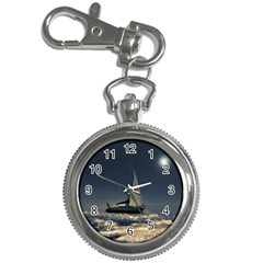 Navigating Trough Clouds Dreamy Collage Photography Key Chain Watch by dflcprints