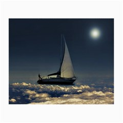 Navigating Trough Clouds Dreamy Collage Photography Glasses Cloth (small, Two Sided) by dflcprints
