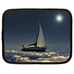 Navigating Trough Clouds Dreamy Collage Photography Netbook Sleeve (xxl) by dflcprints