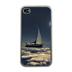 Navigating Trough Clouds Dreamy Collage Photography Apple Iphone 4 Case (clear) by dflcprints