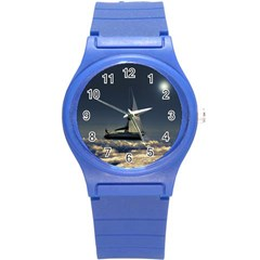 Navigating Trough Clouds Dreamy Collage Photography Plastic Sport Watch (small) by dflcprints