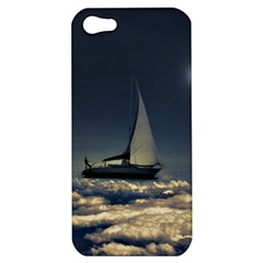 Navigating Trough Clouds Dreamy Collage Photography Apple Iphone 5 Hardshell Case by dflcprints