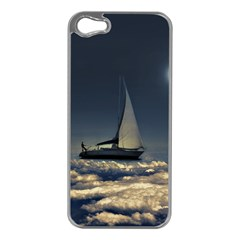 Navigating Trough Clouds Dreamy Collage Photography Apple Iphone 5 Case (silver) by dflcprints
