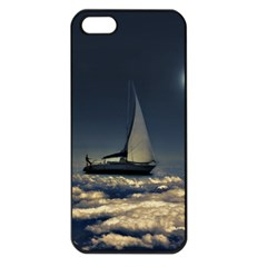 Navigating Trough Clouds Dreamy Collage Photography Apple Iphone 5 Seamless Case (black) by dflcprints