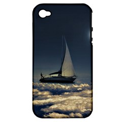 Navigating Trough Clouds Dreamy Collage Photography Apple Iphone 4/4s Hardshell Case (pc+silicone) by dflcprints