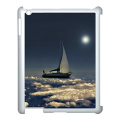 Navigating Trough Clouds Dreamy Collage Photography Apple Ipad 3/4 Case (white) by dflcprints