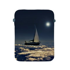 Navigating Trough Clouds Dreamy Collage Photography Apple Ipad Protective Sleeve by dflcprints