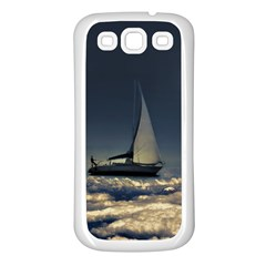 Navigating Trough Clouds Dreamy Collage Photography Samsung Galaxy S3 Back Case (white) by dflcprints