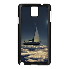 Navigating Trough Clouds Dreamy Collage Photography Samsung Galaxy Note 3 N9005 Case (black) by dflcprints