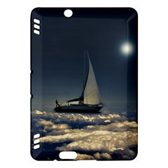 Navigating Trough Clouds Dreamy Collage Photography Kindle Fire HDX Hardshell Case by dflcprints