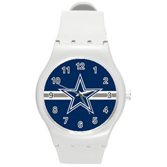 Dallas Cowboys National Football League NFL Teams NFC Round Plastic Sport Watch Medium by SportStore