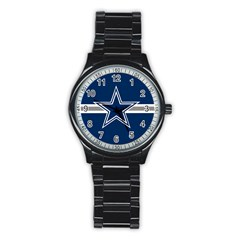 Dallas Cowboys National Football League NFL Teams NFC Men s Stainless Steel Round Dial Analog Watch by SportStore
