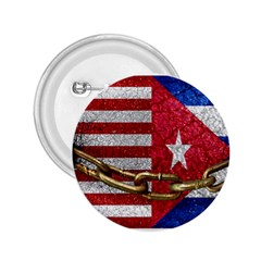 United States And Cuba Flags United Design 2 25  Button by dflcprints