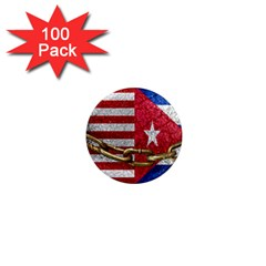 United States And Cuba Flags United Design 1  Mini Button Magnet (100 Pack) by dflcprints