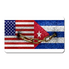United States And Cuba Flags United Design Magnet (rectangular) by dflcprints