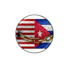 United States and Cuba Flags United Design Golf Ball Marker 4 Pack (for Hat Clip) by dflcprints