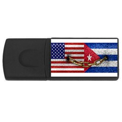 United States And Cuba Flags United Design 4gb Usb Flash Drive (rectangle) by dflcprints