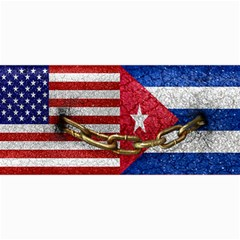 United States And Cuba Flags United Design Canvas 12  X 16  (unframed) by dflcprints