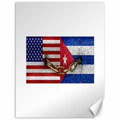 United States And Cuba Flags United Design Canvas 18  X 24  (unframed) by dflcprints