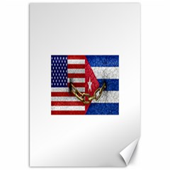 United States And Cuba Flags United Design Canvas 20  X 30  (unframed) by dflcprints