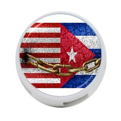 United States And Cuba Flags United Design 4 Port Usb Hub (one Side) by dflcprints