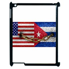 United States And Cuba Flags United Design Apple Ipad 2 Case (black) by dflcprints