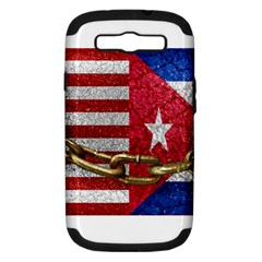 United States And Cuba Flags United Design Samsung Galaxy S Iii Hardshell Case (pc+silicone) by dflcprints