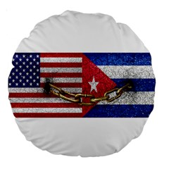 United States And Cuba Flags United Design 18  Premium Round Cushion  by dflcprints