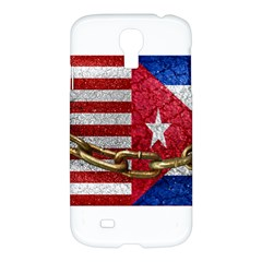 United States And Cuba Flags United Design Samsung Galaxy S4 I9500/i9505 Hardshell Case by dflcprints