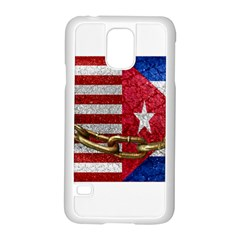 United States And Cuba Flags United Design Samsung Galaxy S5 Case (white) by dflcprints