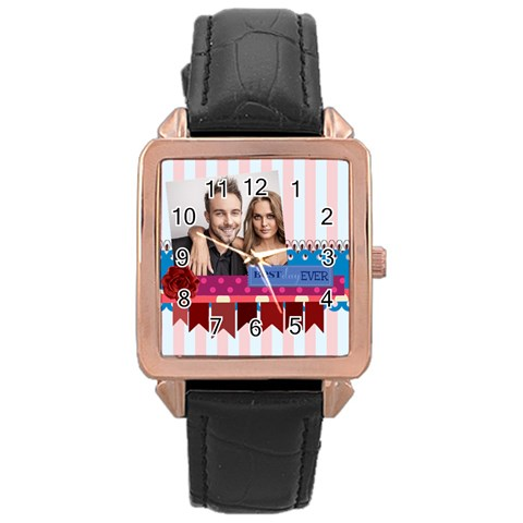 Love By Love   Rose Gold Leather Watch    C8vnqva7abl6   Www Artscow Com Front