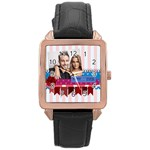 love - Rose Gold Leather Watch