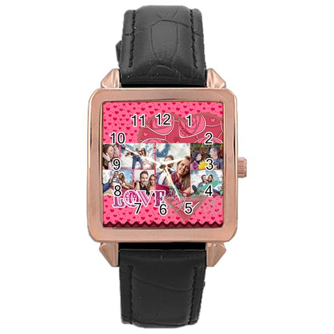 Love By Love   Rose Gold Leather Watch    Hpl6zqn9q8ll   Www Artscow Com Front